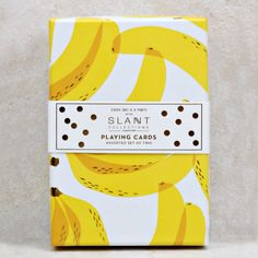 Banana Playing Cards - Coco and Duckie Food Packaging Design, Print Packaging, Packaging Design Inspiration, Graphic Design Inspiration, Packaging Snack, Coffee Packaging, Bottle Packaging, Label Design, Box Design