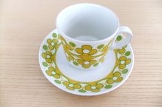 """Lovely coffee cups by Arabia (""""Anna"""")."""