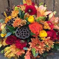 Happy Thanksgiving from the team at Florabundance Wholesale. Check out this beautiful variety of fall themed flowers we can offer to florists! Call to place an order - Fall Wedding Flowers, Fall Flowers, Florists, Autumn Theme, Happy Thanksgiving, Floral Wreath, Wreaths, Day, Check