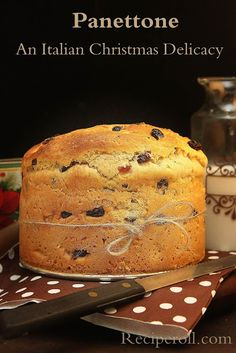 Panettone - Christmas Sweet Fruit Bread (My favourite!)