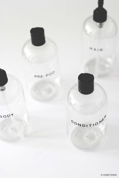 i diy: minimalist shampoo bottles — hometohem