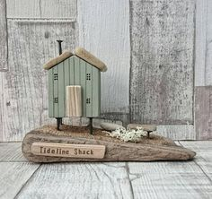 This item is unavailable Scrap Wood Crafts, Wood Block Crafts, Driftwood Crafts, Wooden Crafts, Wooden Diy, Wood Projects, Small Wooden House, Wooden Houses, Bird Houses