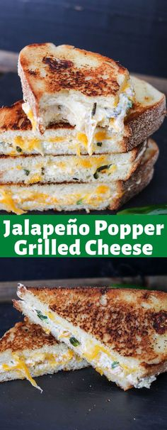 Jalapeno Popper Grilled Cheese is an amazing combination of roasted jalapeños, three cheeses, the perfect blend of spices, and then sandwiched between thick crunchy bread! It's the PERFECT sandwich! Jalapeno Grill, Roasted Jalapeno, Jalapeno Poppers, Stuffed Jalapeno Peppers, Grilled Cheese Sloppy Joe, Perfect Grilled Cheese, Sandwich Ingredients, Soften Cream Cheese, Breakfast Snacks