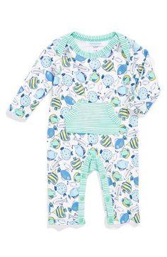 jaxxwear Print Pima Cotton Romper (Baby Boys) available at #Nordstrom