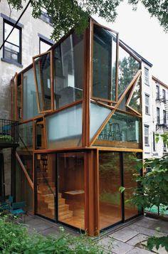 A Glass Pavilion Duplex featured in @ELLE Magazine (US) Magazine (US) DECOR