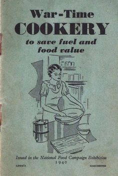 This helpful War-Time Cookery booklet explains the best way to save food and fuel during the Second World War when there was rationing on most essential and luxury items. A facsimile of a cookery pam Retro Recipes, Old Recipes, Vintage Recipes, Vegan Recipes, Vintage Cookbooks, Vintage Books, War Recipe, Wartime Recipes, Vintage Ads