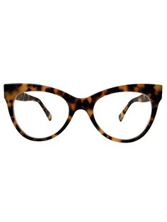 Square Cat Eye Glasses in Tokyo Tort by Norma Kamali would flatter any face