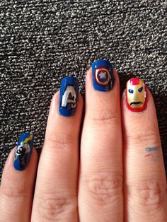 Avengers nail art!!!