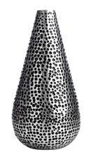 Vase, 'Drop', pitted aluminum.