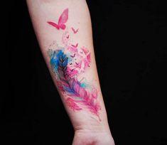 Bird Feather tattoo by Versus Ink