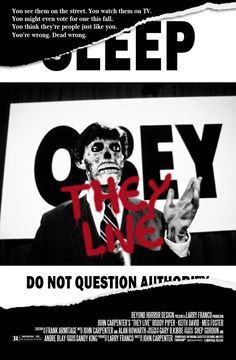 John Carpenter's They Live (1988) poster by Beyond Horror Design