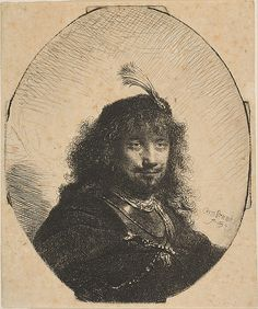 Rembrandt (Rembrandt van Rijn) (Dutch, Leiden 1606–1669 Amsterdam). Self-Portrait with Plumed Cap and Lowered Sabre, 1634. The Metropolitan Museum of Art, New York. H. O. Havemeyer Collection, Bequest of Mrs. H. O. Havemeyer, 1929 (29.107.11) #mustache #movember