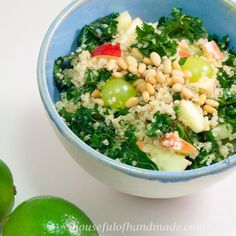 Quinoa Kale Salad with Honey Lime Vinaigrette