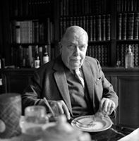L P Hartley (The Go Between etc) eating lunch at The Old Rectory in Litton…