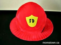 Paper plate firefighter hat