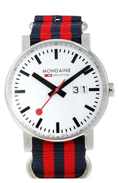 c0ee7effea0 Mondaine  (Evo)lution  Canvas Strap Watch