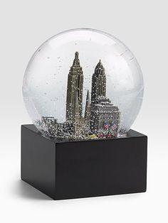 Saks Fifth Avenue New York City Snow Globe