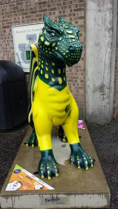 #gogodragon This one represents Norwich City FC and is at the NCFC football ground for the summer.
