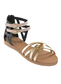 Ankle Bar Gladiator Sandals