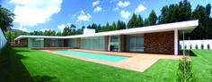 moderne Häuser von A.As, Arquitectos Associados, Lda Beautiful Home Designs, Cool House Designs, Modern House Design, Bungalows, Dream House Plans, Minimalist Home, Log Homes, Architecture Design, Building