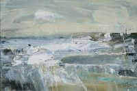 Hannah Woodman Tidal Swell, Godrevy oil on board 8 x 12 ins (20 x 30 cms)