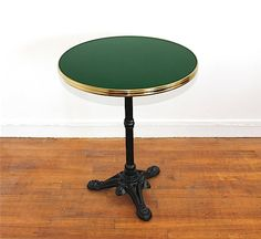 French enamel bistro table, diameter 26,6 in  / Enamel bar table to customize / Genuine enamel vintage style made in France