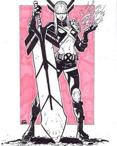 Awesome Art Picks: Elektra, Batman, Hawkgirl, and More - Comic Vine Magik Marvel, Marvel Comics Art, Marvel X, Comic Book Artists, Comic Artist, Comic Books Art, Kitty Pryde, The New Mutants, Marvel Drawings