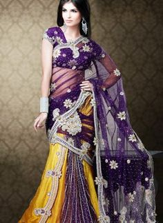 Lehenga Saree is one of the best styles that blend the style of saree and lehenga. This looks even more graceful when draped stylishly.