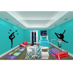 gymnastics bedroom love it I am a gymnast so it would be nice
