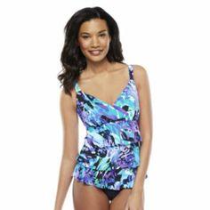 Croft & Barrow Tummy Slimmer Tiered One-Piece Swimsuit - Women's