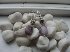 Purple Amethyst Earrings by ZaZaJewels on Etsy, $15.00