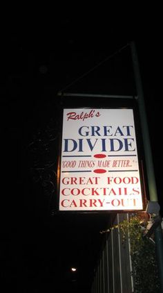 Ralph's Great Divide - some of the best food in Indy!