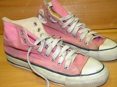 9fb159d848a2 1970 s Men s Converse Sneaker High Top Pink Square Label Sz 6 1 2 Made in  USA
