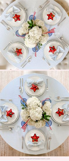 Fourth Of July Decor, 4th Of July Decorations, July 4th, Table Decorations, July Birthday, Blue Color Schemes, Super Simple, Independence Day, Seasonal Decor