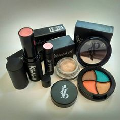 "Be a Bombshell makeup 4pc lot eyeshadow & more! Four Be a Bombshell products brand new in their boxes, this lot includes The One Stick in ""girl crush,"" eye base in ""submissive,"" lip balm in ""french kiss"" and a super bright & fun eye shadow quad in ""bora bora."" be a Bombshell  Makeup"
