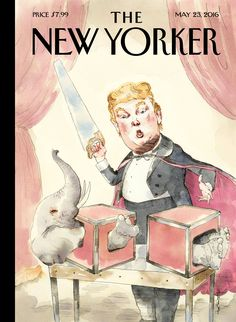 """The New Yorker - Monday, May 23, 2016 - Issue # 4640 - Vol. 92 - N° 15 - Cover """"Grand Illusion"""" by Barry Blitt"""