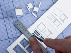 making model chairs - doll house making