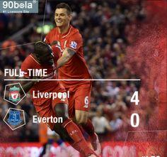 Liverpool vs Everton 4-0 Pesta Gol ke Gawang Everton,  Liverpool Dekati Zona Eropa http://data.90bola.co/analysis/1130485.html