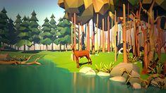 deer in autumn forest (in color) by prusakov on DeviantArt