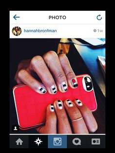 NAILED IT! DJ, NY Native, and co-founder of Beautified app Hannah Bronfman with a custom manicure by Ciao Manhattan and our Cushion Wrap in Scarlet/Silver.