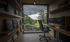 PBA Studio - Patrick Bradley Architects 40ft Shipping Container, Corrugated Tin, Water House, Birch Ply, Vernacular Architecture, Grand Designs, Concrete Floors, Cladding, Maine