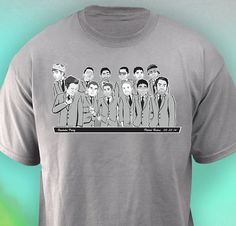 Bachelor Party Caricature Shirts The Double Stack by GroomsPartyTs, $80.00