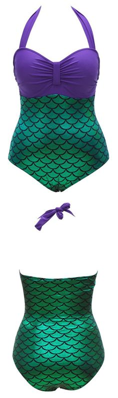 This mermaid swimsuit is the cutest! aff