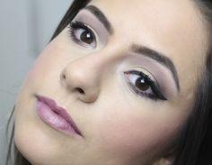 Tutorial em fotos: Maquiagem Neutra Lilás e Mostarda