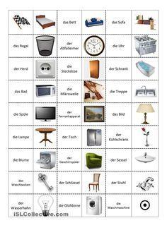 geschirr und m bel deutsch lernen deutsch pinterest deutsch lernen lernen und deutsch. Black Bedroom Furniture Sets. Home Design Ideas
