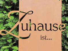 """Edelrost Gedichttafel """"Zuhause"""""""