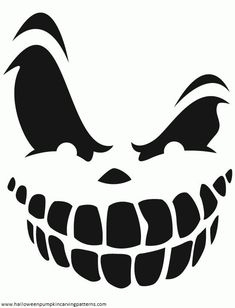 Pumkin Stensils easy pumpkin stencils home pumpkin carving templates big smile big smile with teeth free printable coloring pages scary pumpkin carvingpatternshalloween Diy Deco Halloween, Image Halloween, Halloween Crafts, Halloween Templates, Halloween Design, Funny Halloween, Halloween Makeup, Halloween Party, Halloween Balloons