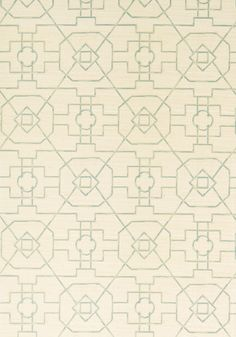 EAST GATE, Cream and Aqua, T41152, Collection Grasscloth Resource 3 from Thibaut