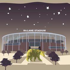 Baylor's McLane Stadium artwork #SicEm