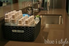 with style} How to Organize Baby Bottles Keep baby bottles organized and contained on the kitchen counter!Keep baby bottles organized and contained on the kitchen counter! Baby Boys, Our Baby, Carters Baby, Baby Bottle Organization, Organization Ideas, Organizing Baby Bottles, Kitchen Organization, Organizing Baby Clothes, Storage Ideas